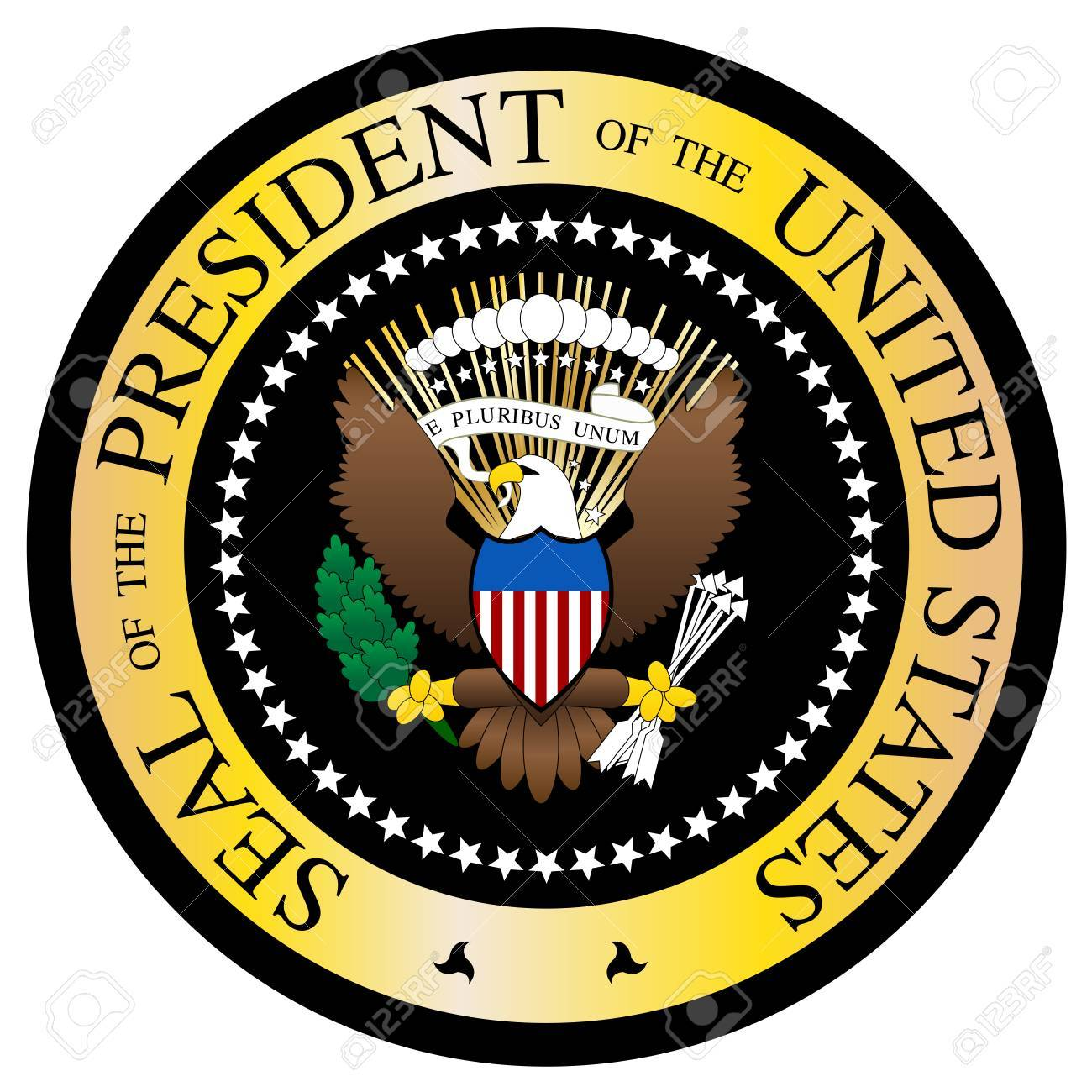 a presidential seal design isolated on a white background royalty rh 123rf com  us presidential seal clipart