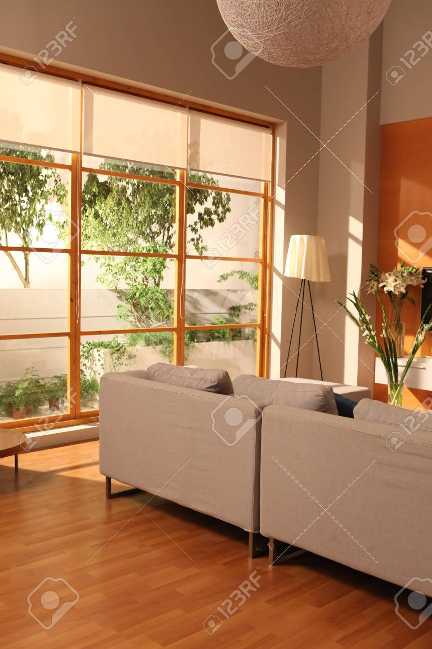 Modern Living Room Design With Sofa With Big Window Stock Photo Picture And Royalty Free Image Image 93288046