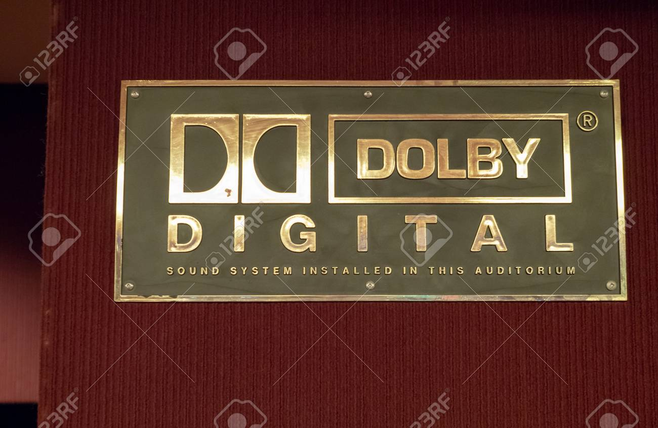 SAN FRANCISCO, CA – APRIL 21, 2018: Dolby Digital logo outside