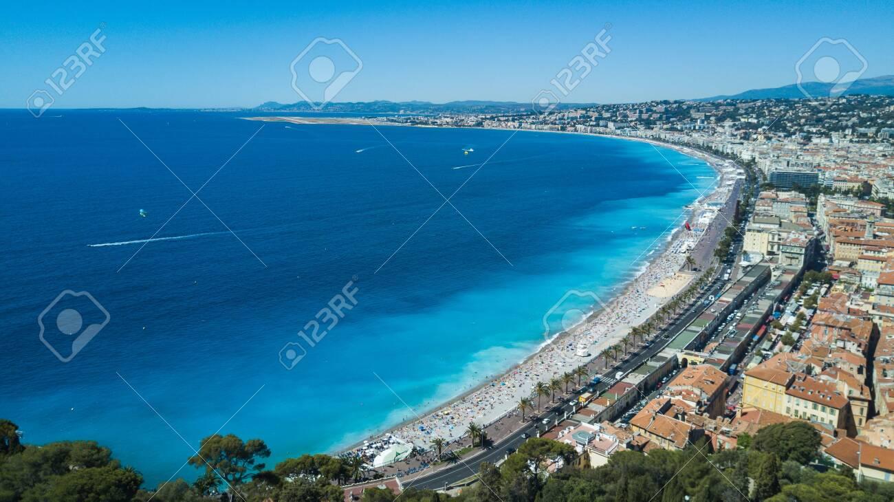 Summer view of Baie dange in Nice, cote dazur, south France - 133098462