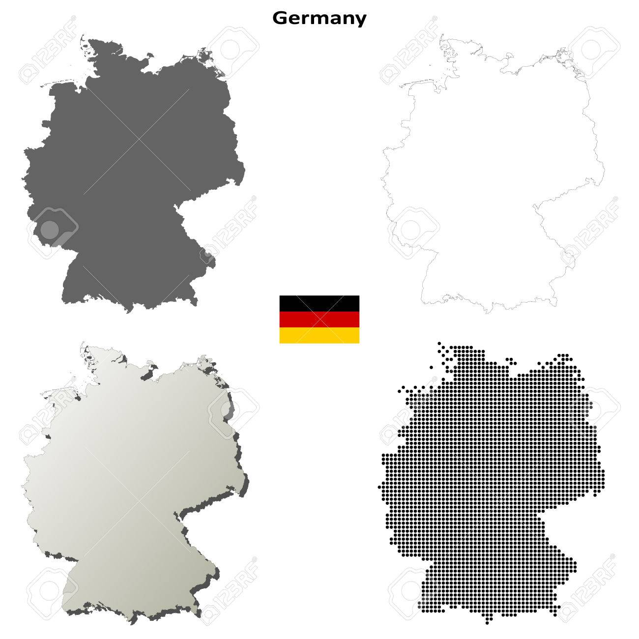 Germany Blank Detailed Vector Outline Map Set Stock Vector   47606530