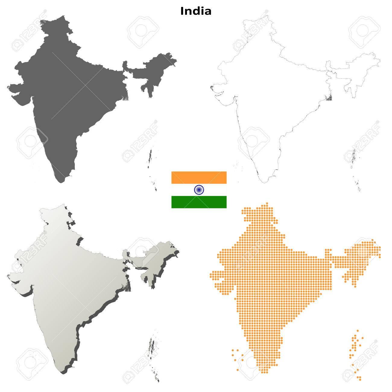 Carte Inde Vierge.Inde Vierge Vecteur Detaillee Fond De Carte Ensemble