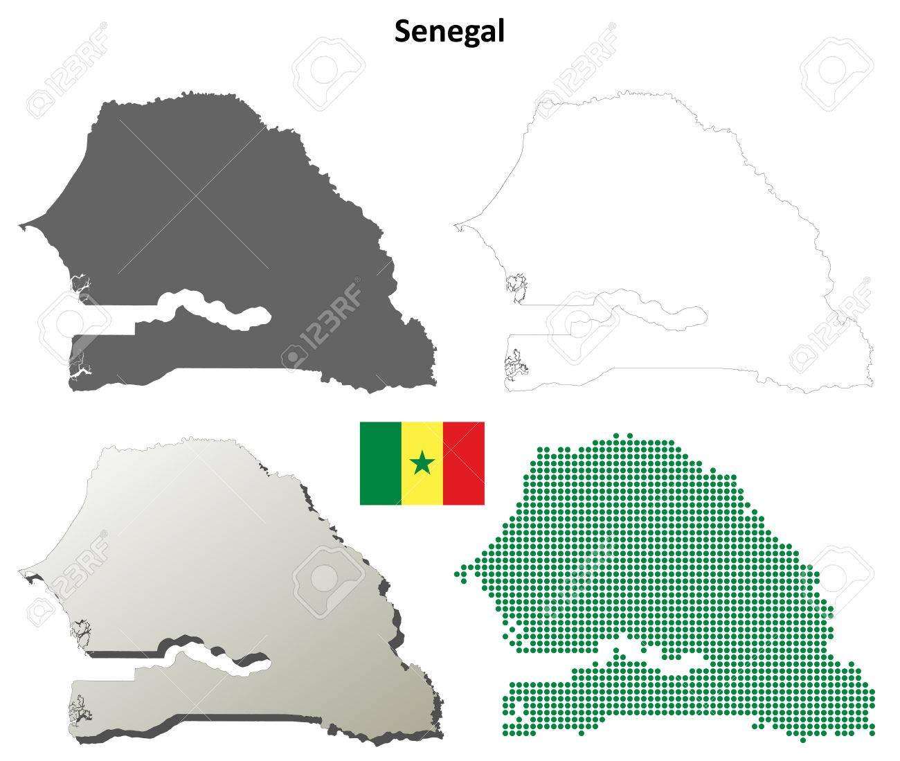 Carte Senegal Vierge.Senegal Vierge Vecteur Detaillee Fond De Carte Ensemble