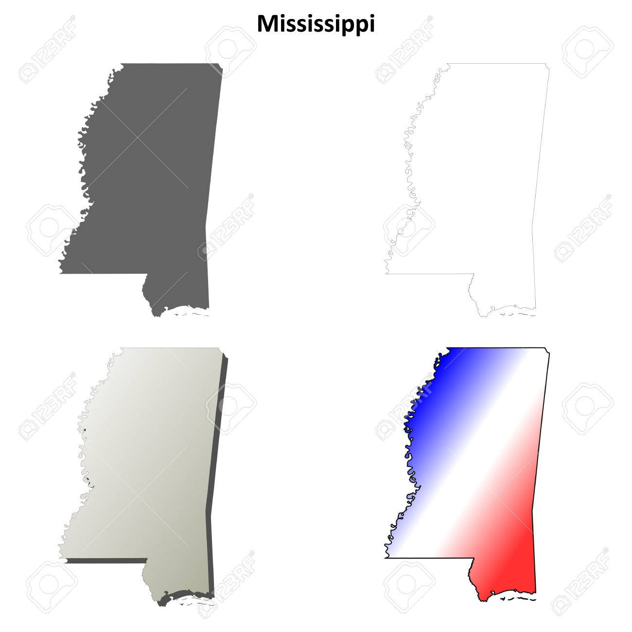 Blank Map Of The Us With Mississipi - Blank map of the us with mississipi