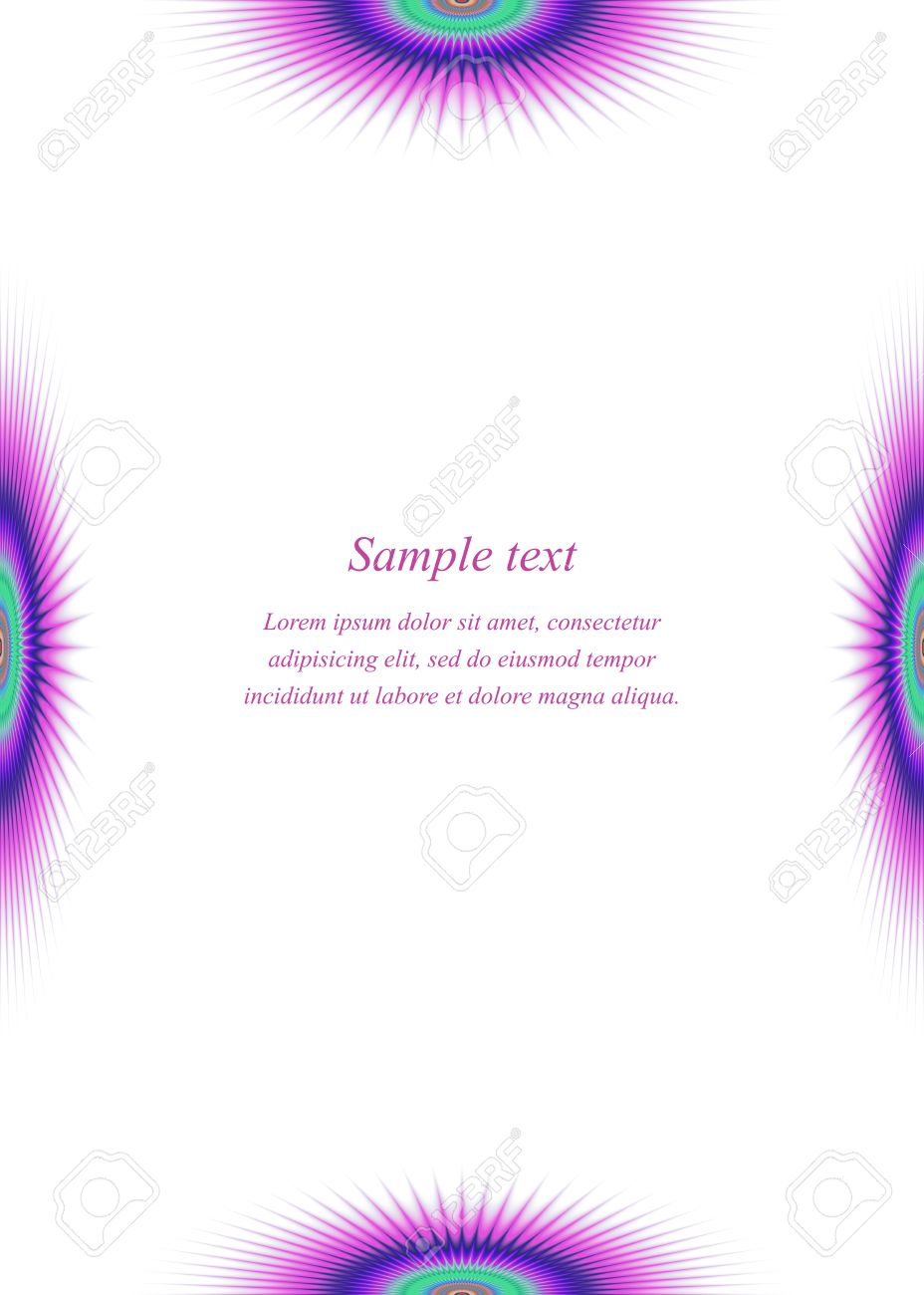 Colorful Page Border Design Template For Brochure Royalty Free Colorful Page Border