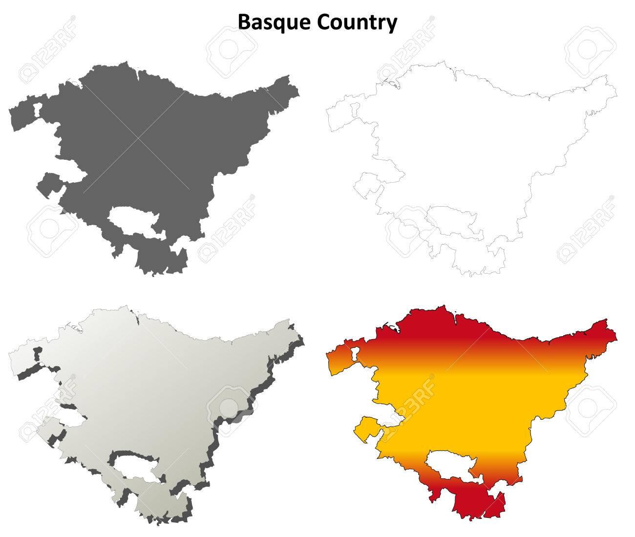 Carte Espagne Pays Basque Detaillee.Pays Basque Vierge Apercu Carte Detaillee Set Version Espagnole