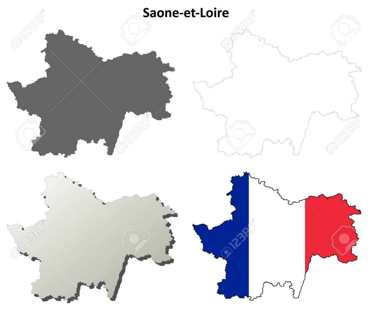 Carte Bourgogne Blanc.Saone Et Loire Bourgogne Blanc Apercu Detaille Carte Ensemble Clip