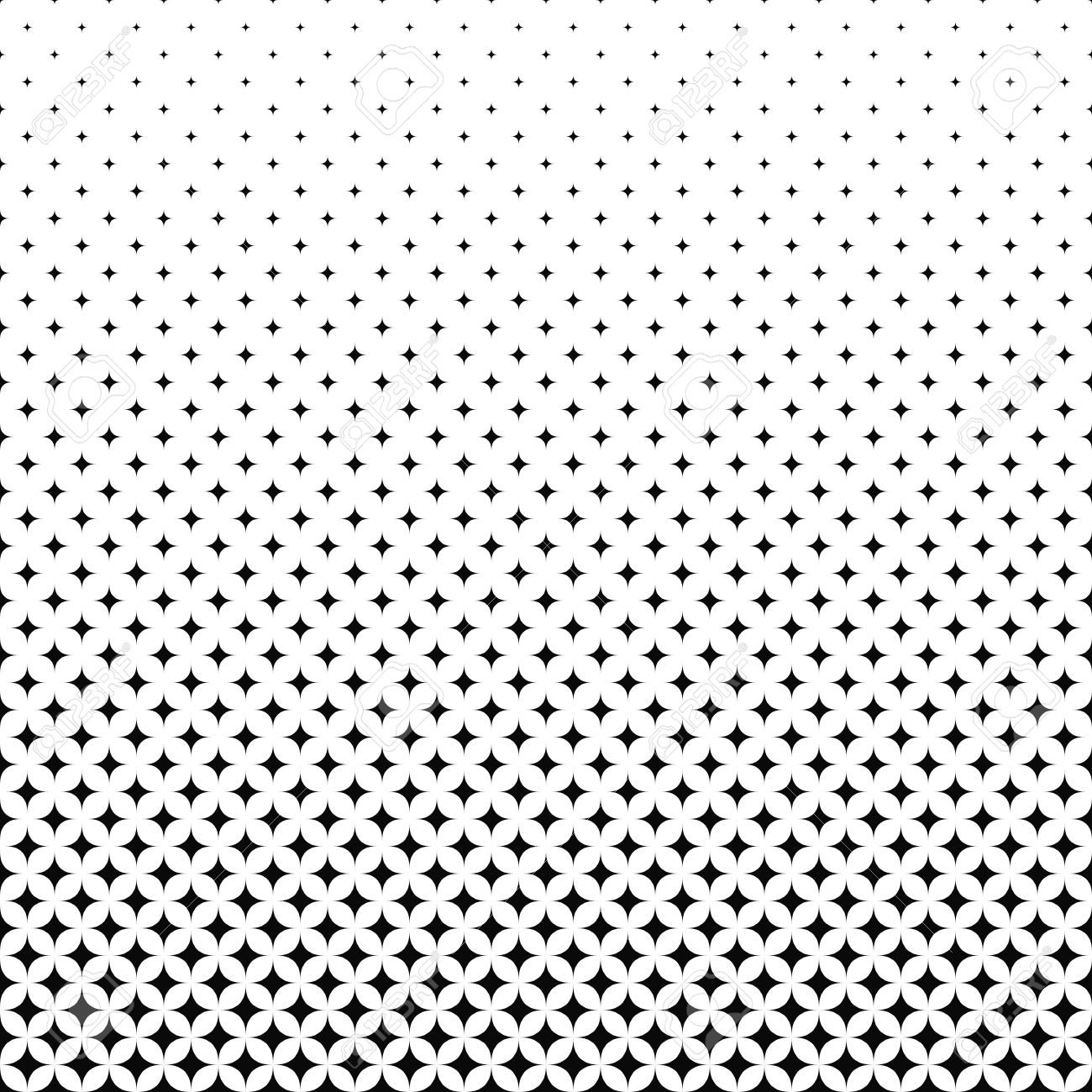 Exceptional Seamless Monochrome Vector Star Pattern Design Background Stock Vector    52803645