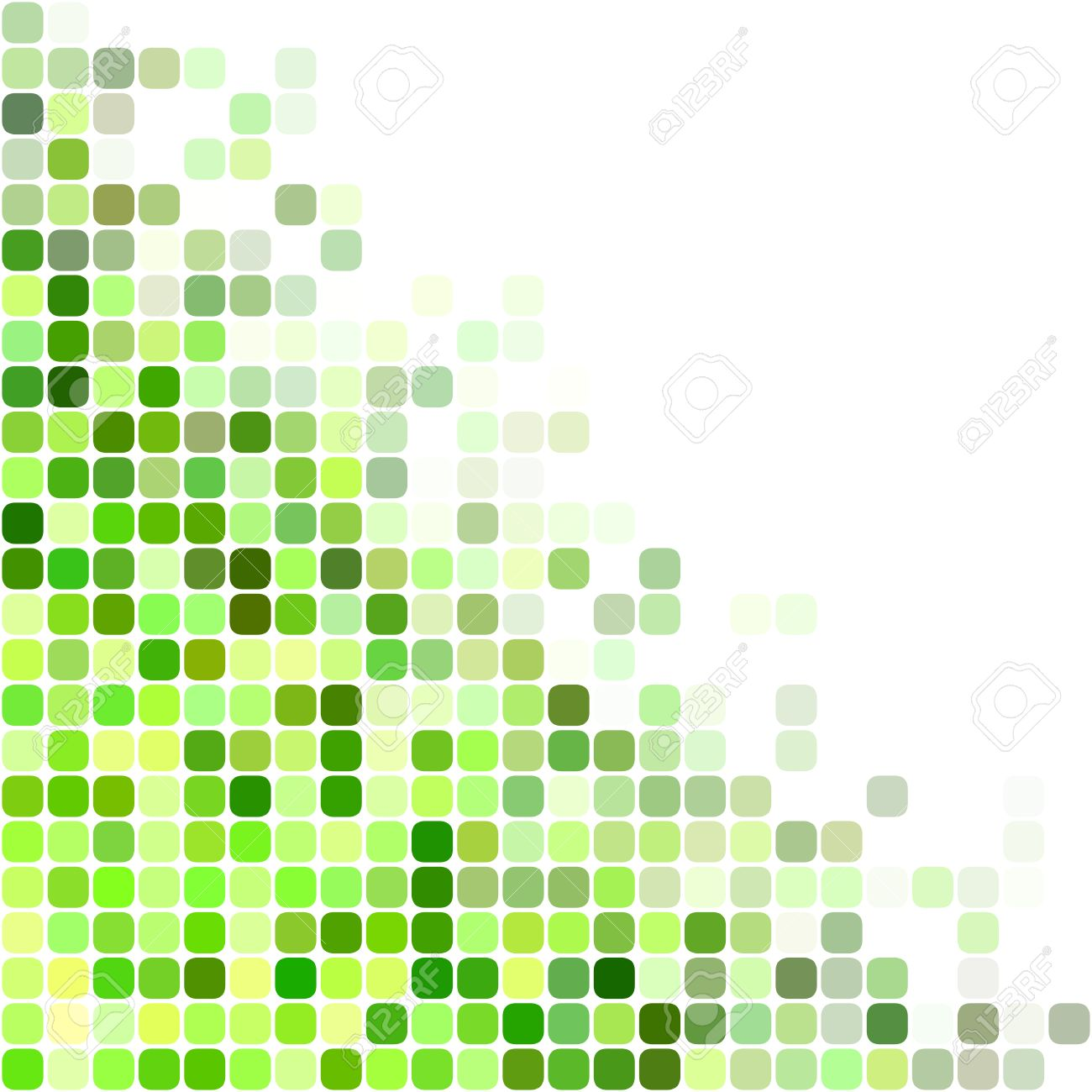 Green Color Square Mosaic Vector Background Design Royalty Free