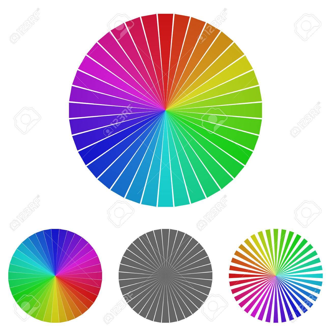 Rainbow Wheel Logo Vector. Wheel Icon Symbol Design Template ...