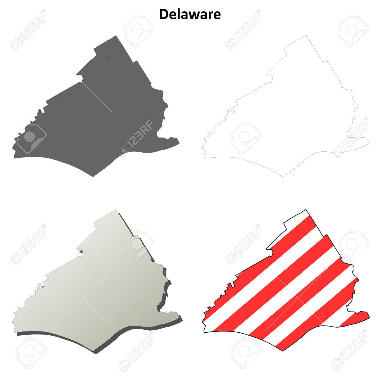 Delaware County Map on