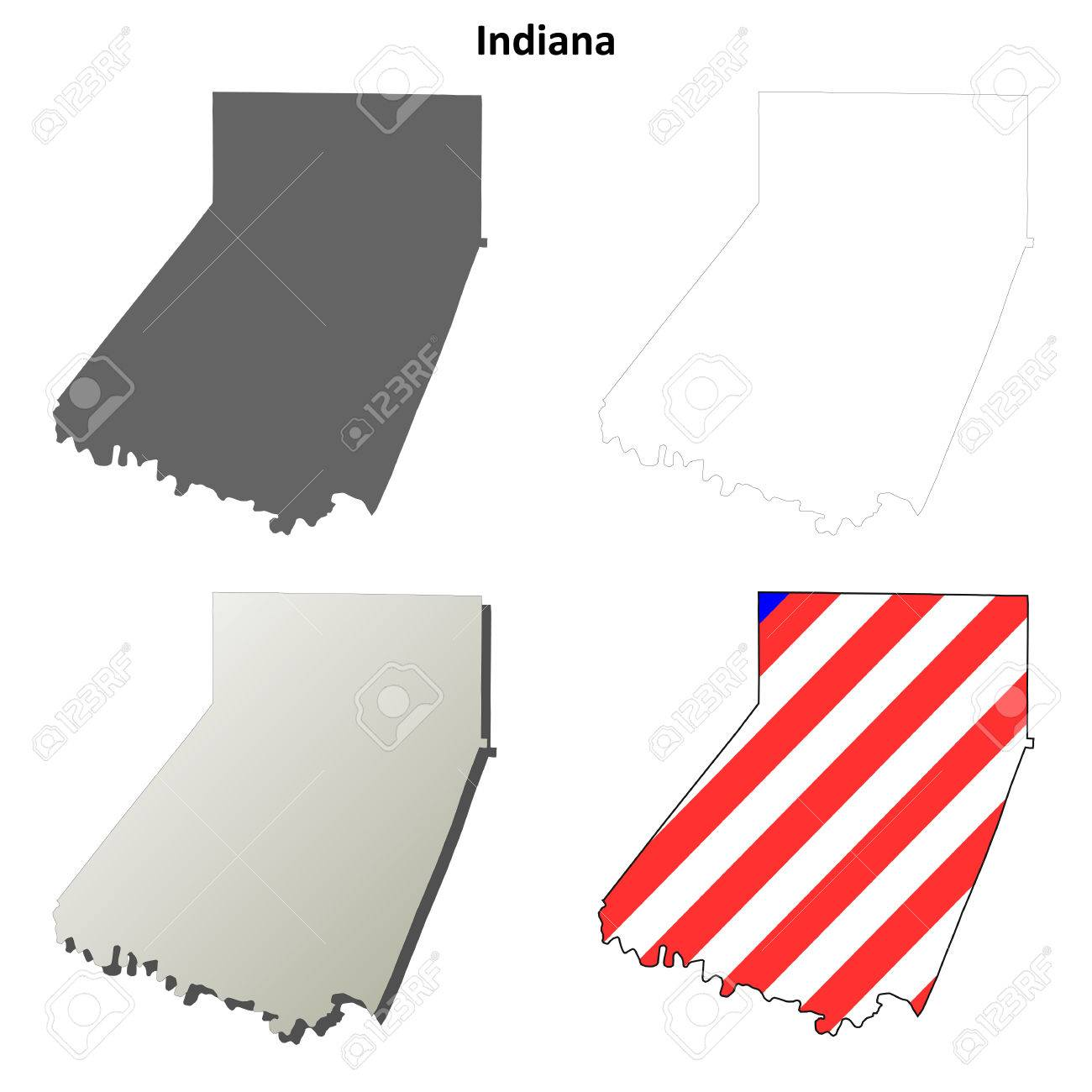 Image of: Indiana County Pennsylvania Blank Outline Map Set Royalty Free Cliparts Vectors And Stock Illustration Image 56393523