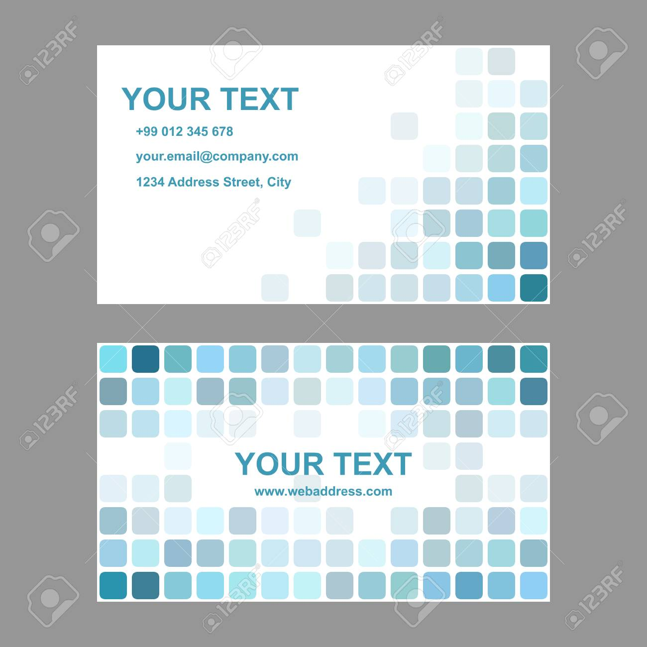 Cyan abstract business card template background design from rounded cyan abstract business card template background design from rounded squares stock vector 63644759 wajeb Gallery