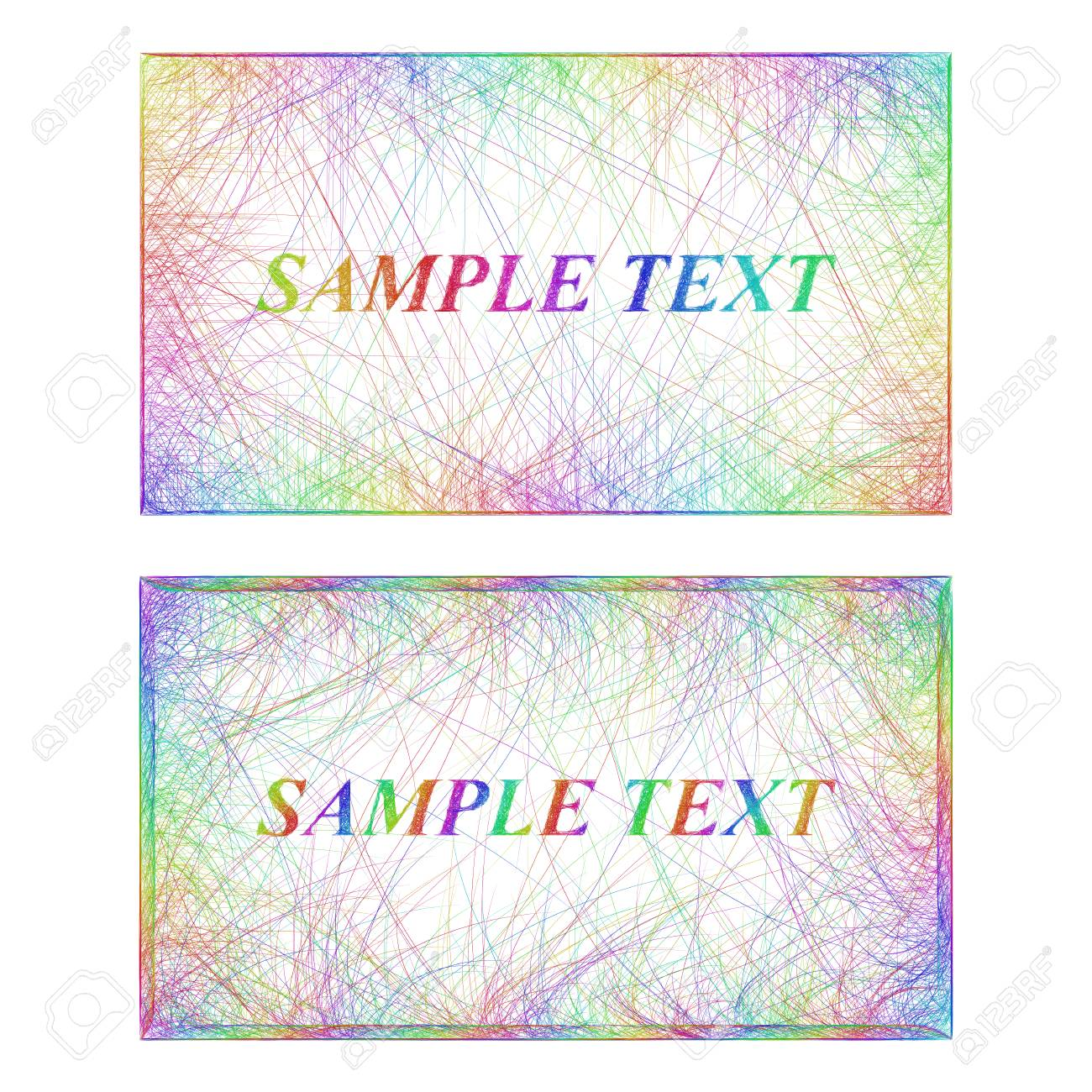 Sketch business card border templates in rainbow colors royalty free sketch business card border templates in rainbow colors stock vector 63667212 fbccfo Gallery