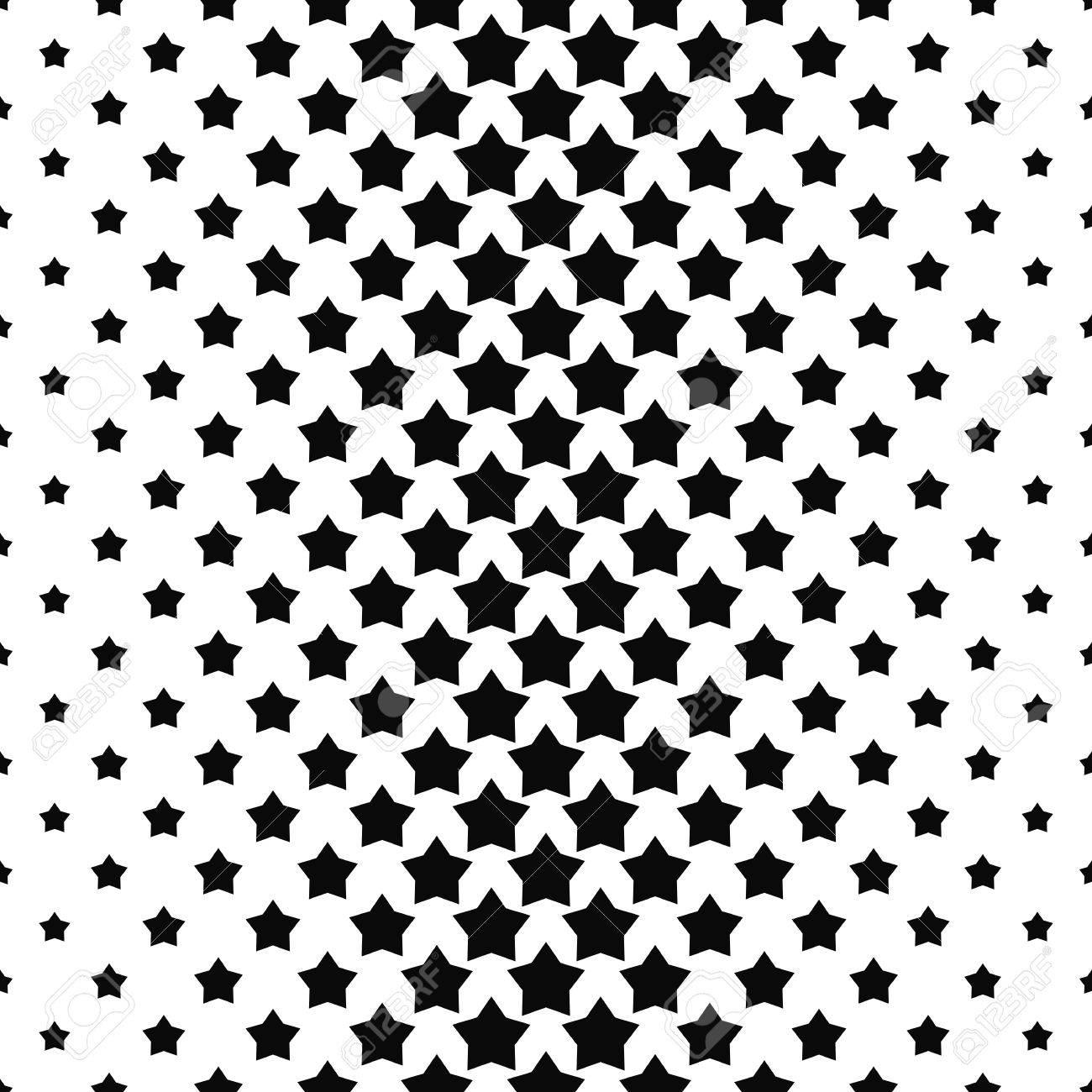 schwarz wei stern muster hintergrund vektor illustration standard bild - Stern Muster