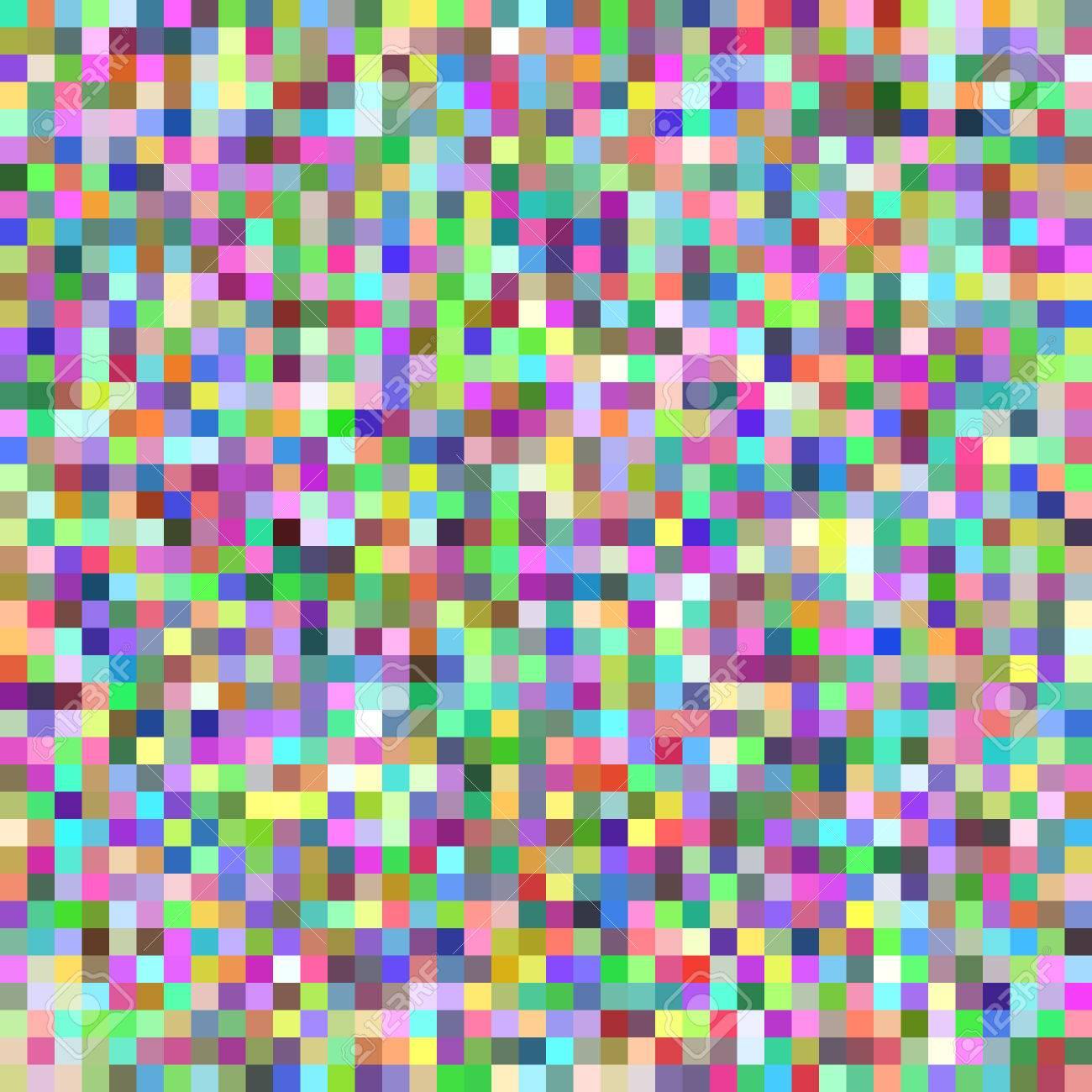 Fond De Mosaïque De Carreaux Carrés De Pixel Graphique Vectoriel Géométrique De Carrés Multicolores