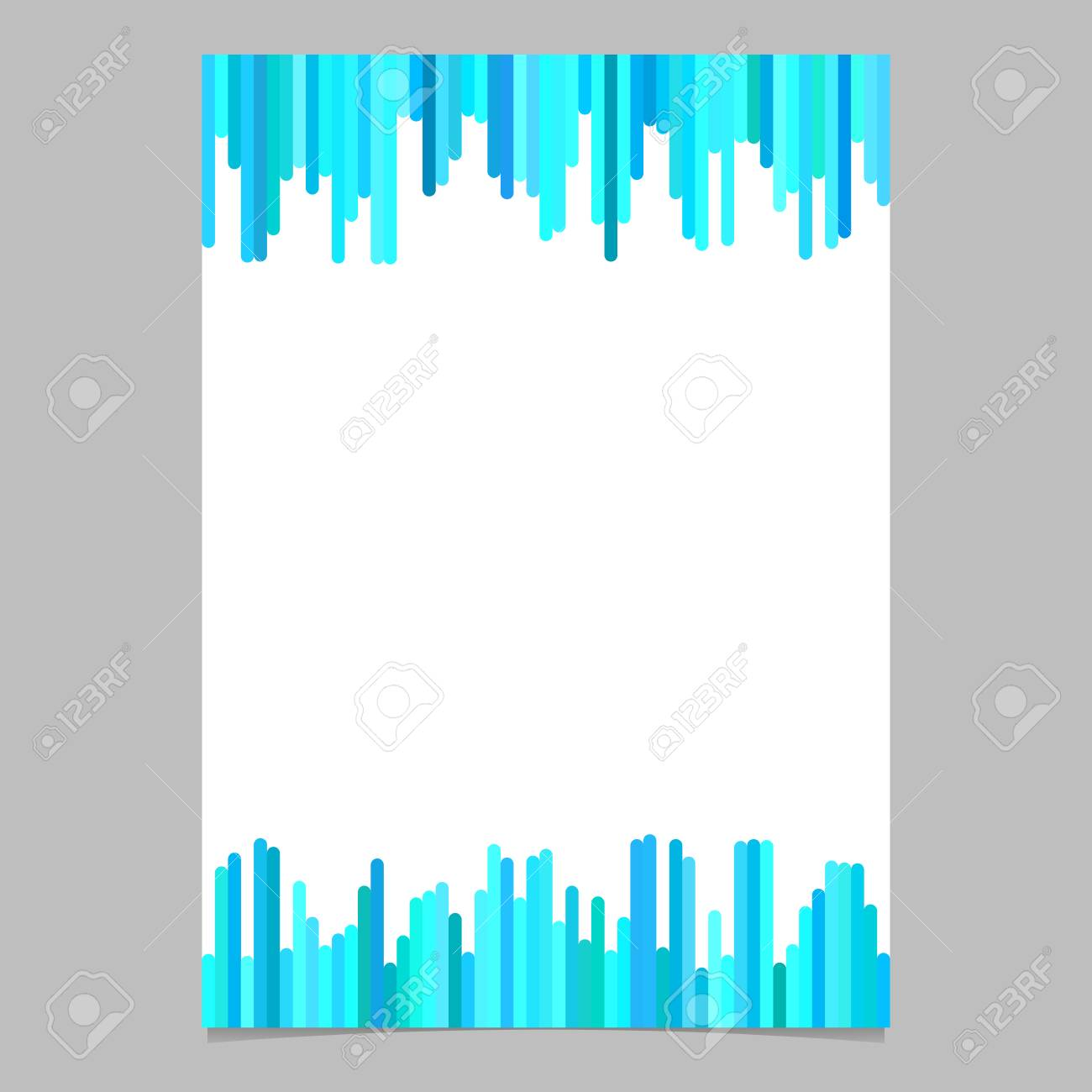 poster template from vertical rounded stripes in light blue tones