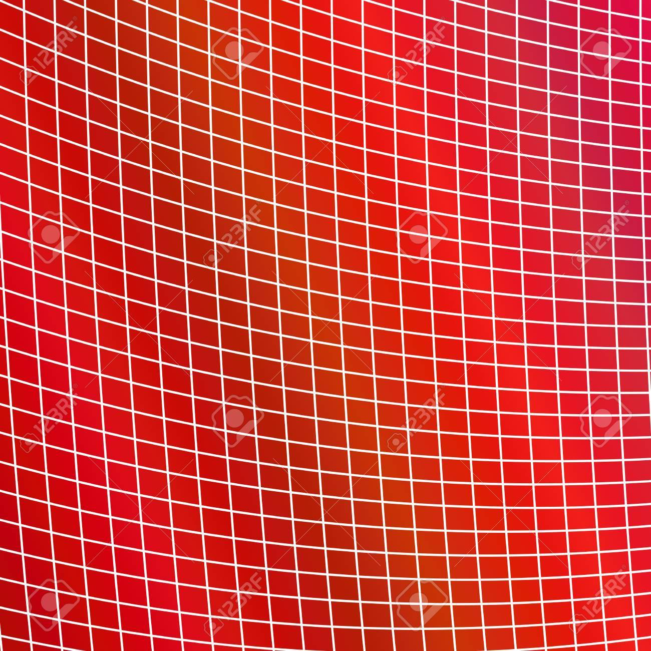 Geometrical grid background - red vector design from curved angular