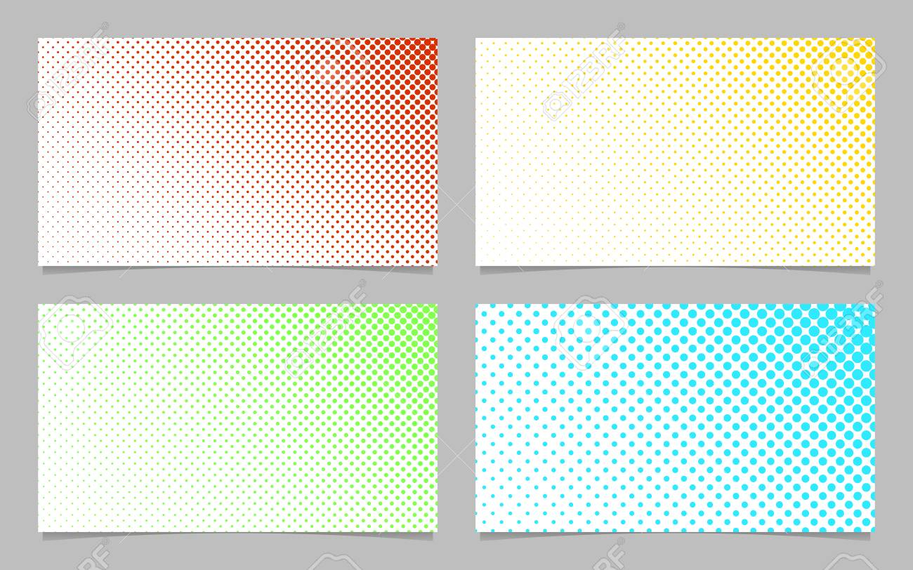 digital halftone dot pattern business card background template