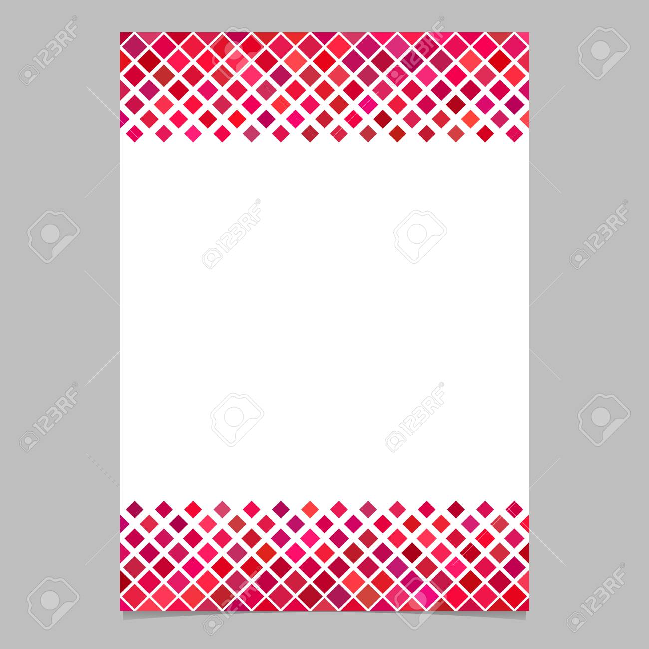 Diagonal square pattern page border template vector graphic diagonal square pattern page border template vector graphic design from squares in red tones with voltagebd Images