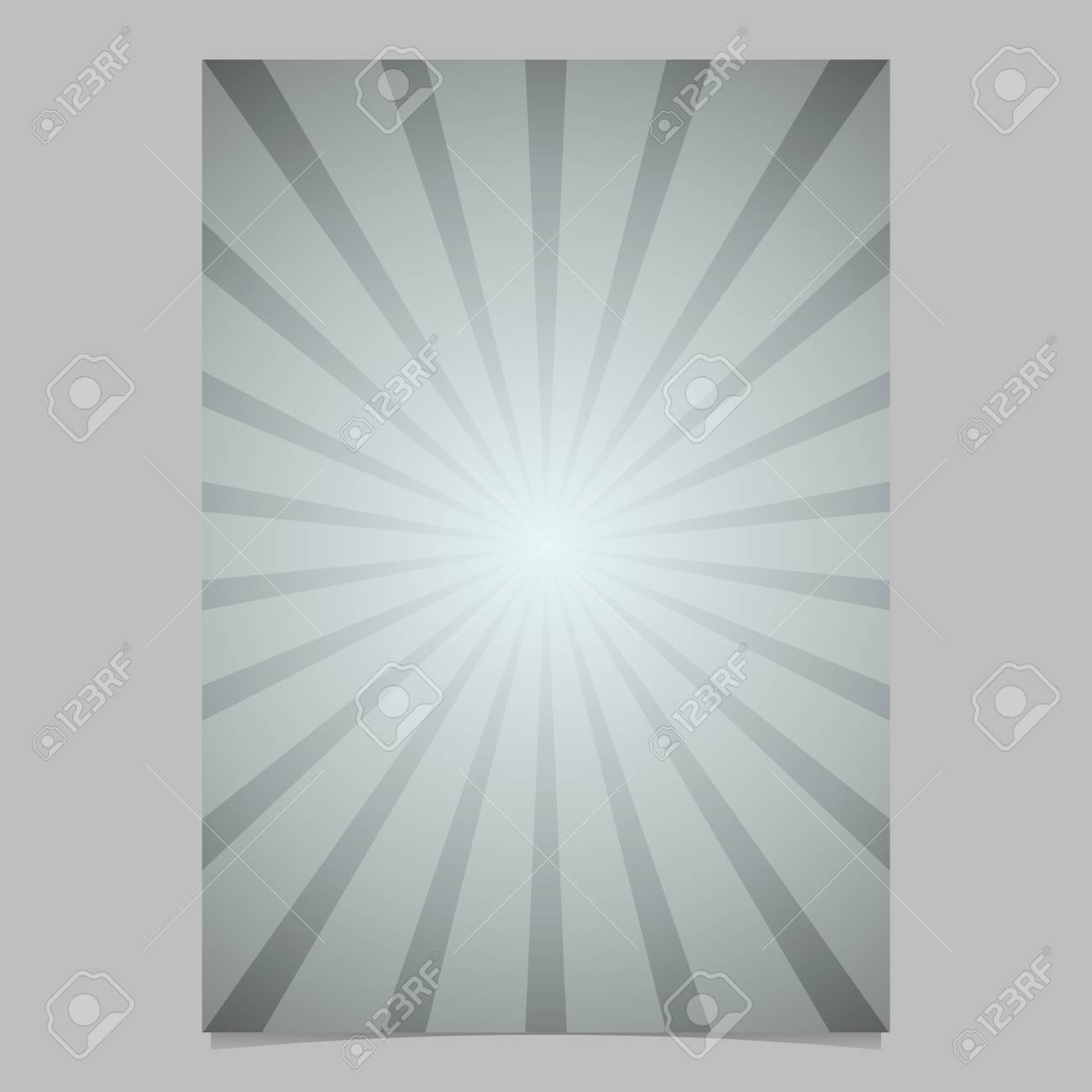 Gradient Ray Burst Page Template - Vector Brochure Background ...