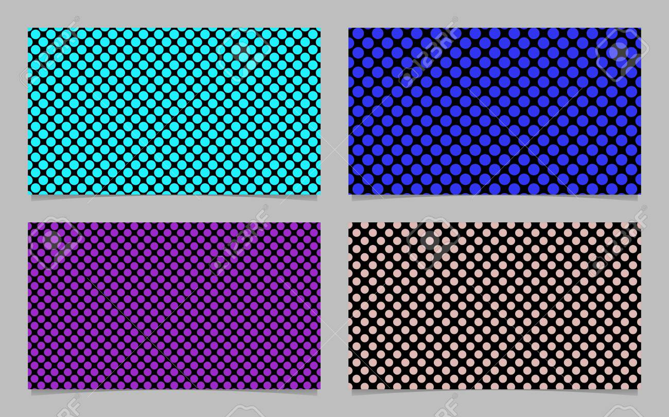 Modern Polka Dot Business Card Background Set - Vector Company ...