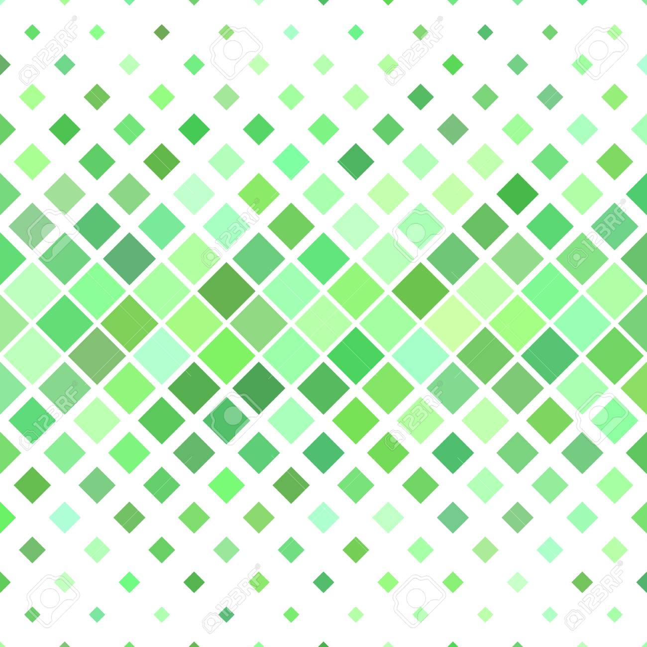 Green abstract square pattern background geometric vector illustration