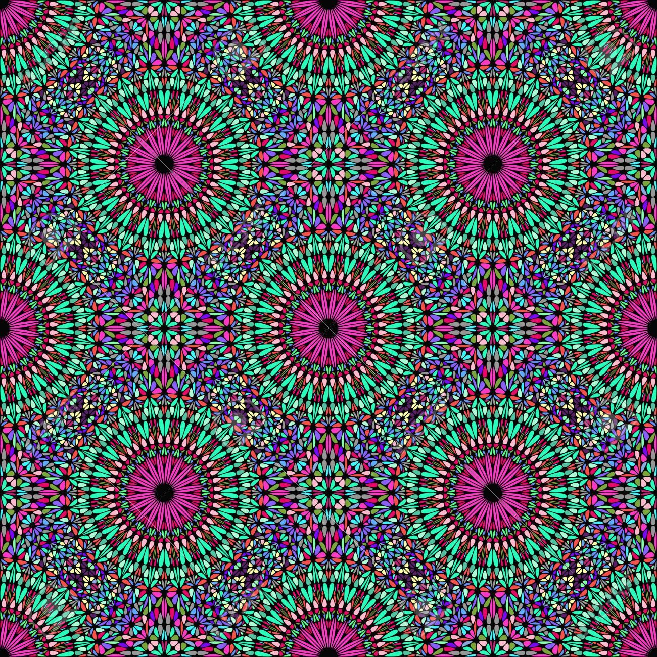 Abstract Bohemian Seamless Multicolor Geometrical Mandala Garden