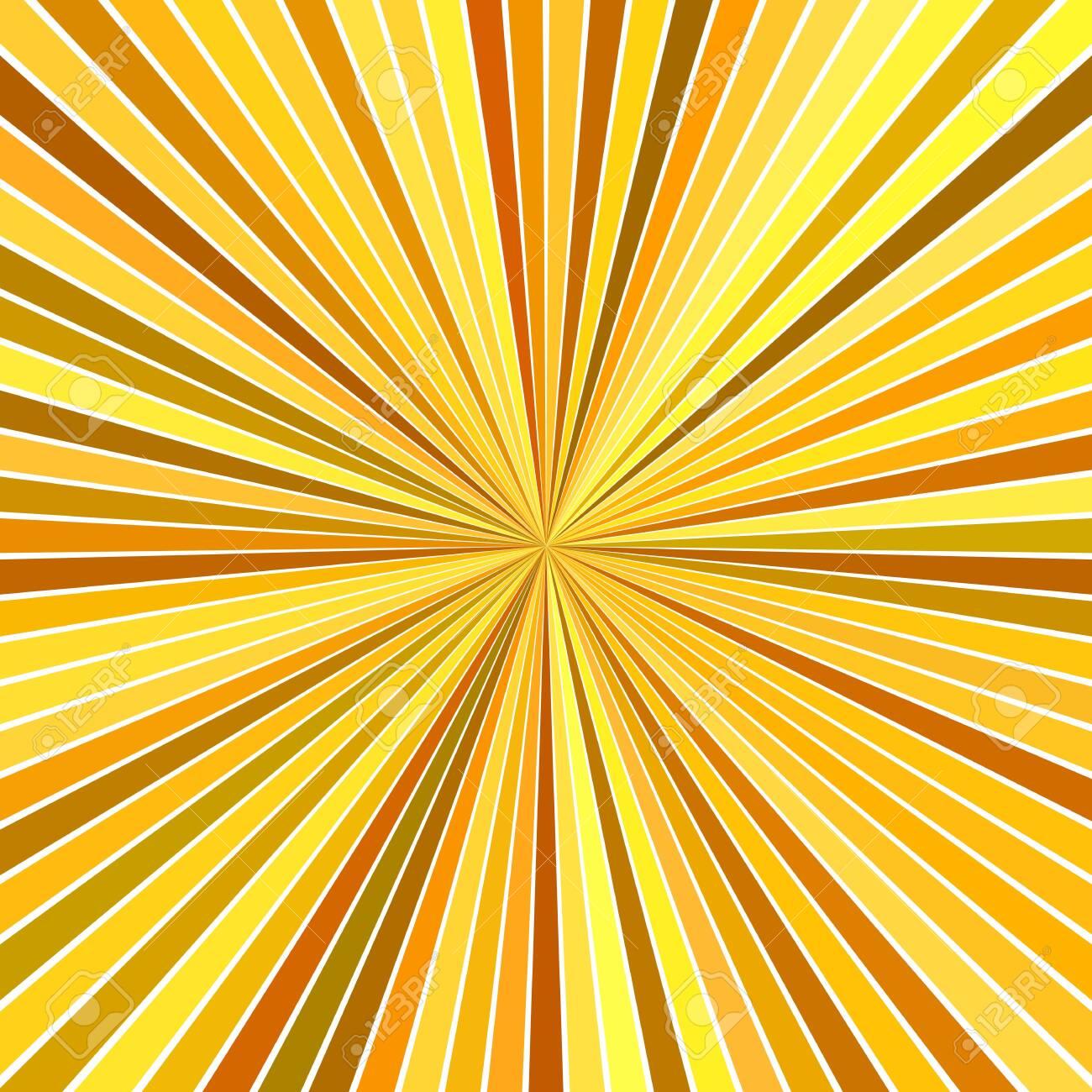 Orange abstract hypnotic speed concept background - vector starburst design - 122950059