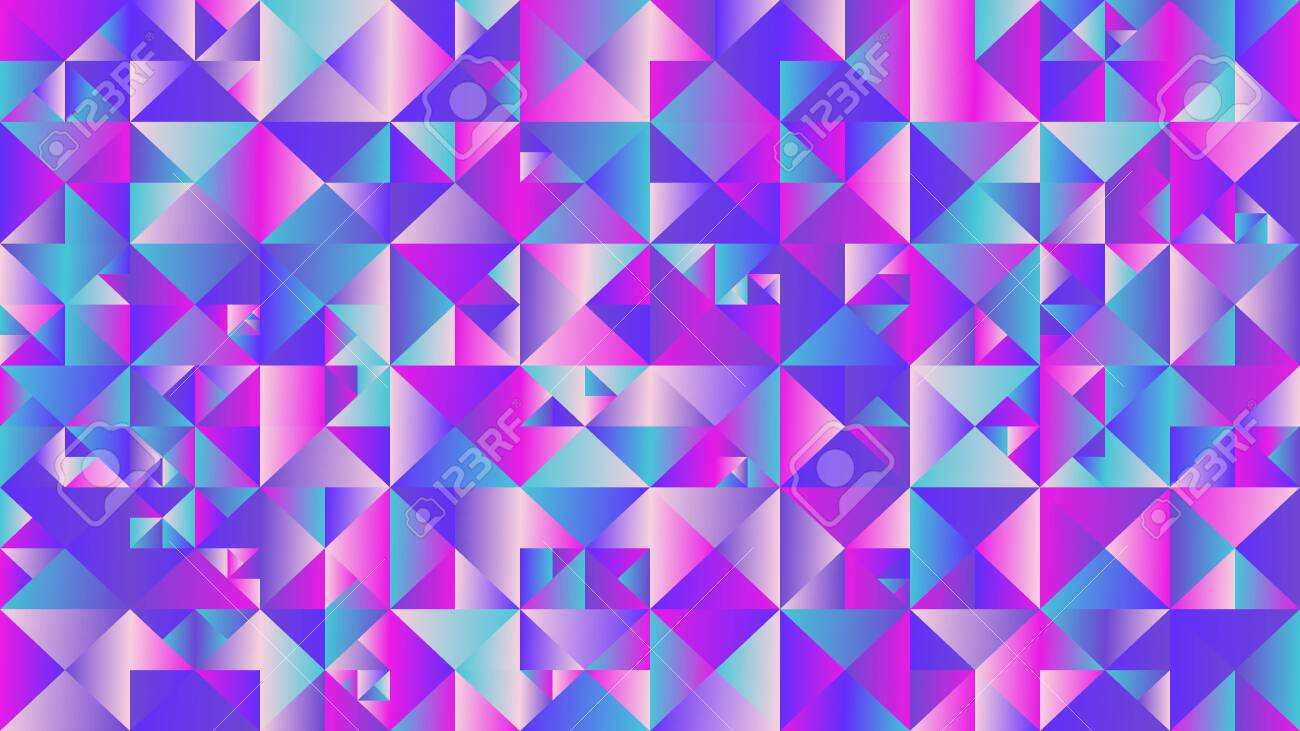 Gradient Multicolor Mosaic Triangle Hd Background Abstract