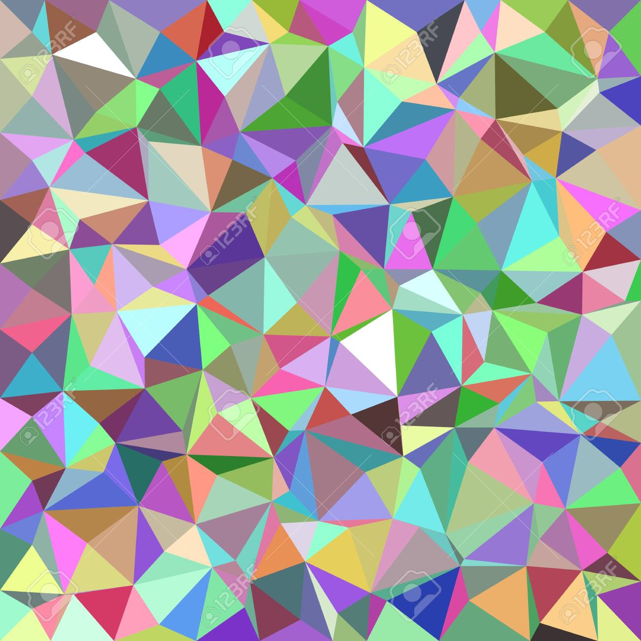 Colorful abstract triangle tile mosaic pattern background - 131383868