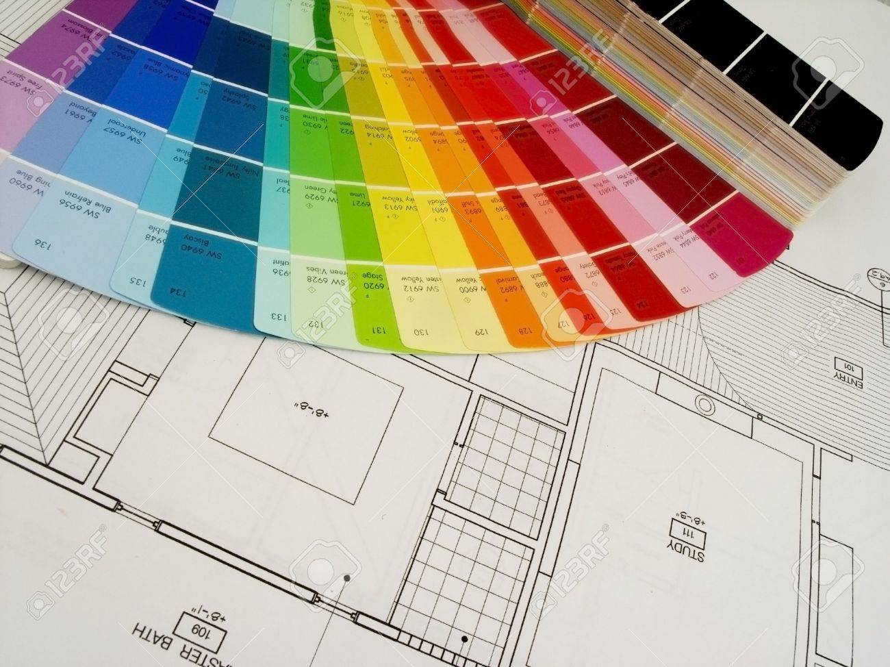 color swatshes and plans Stock Photo - 368771