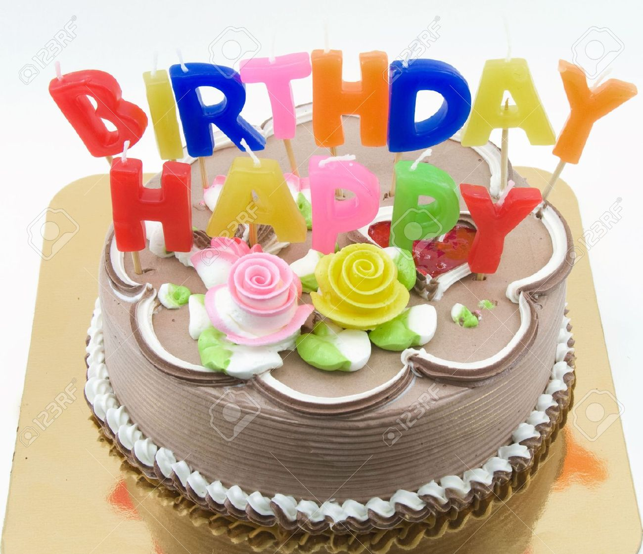 Big Birthday Cake Stock Photo Picture And Royalty Free Image