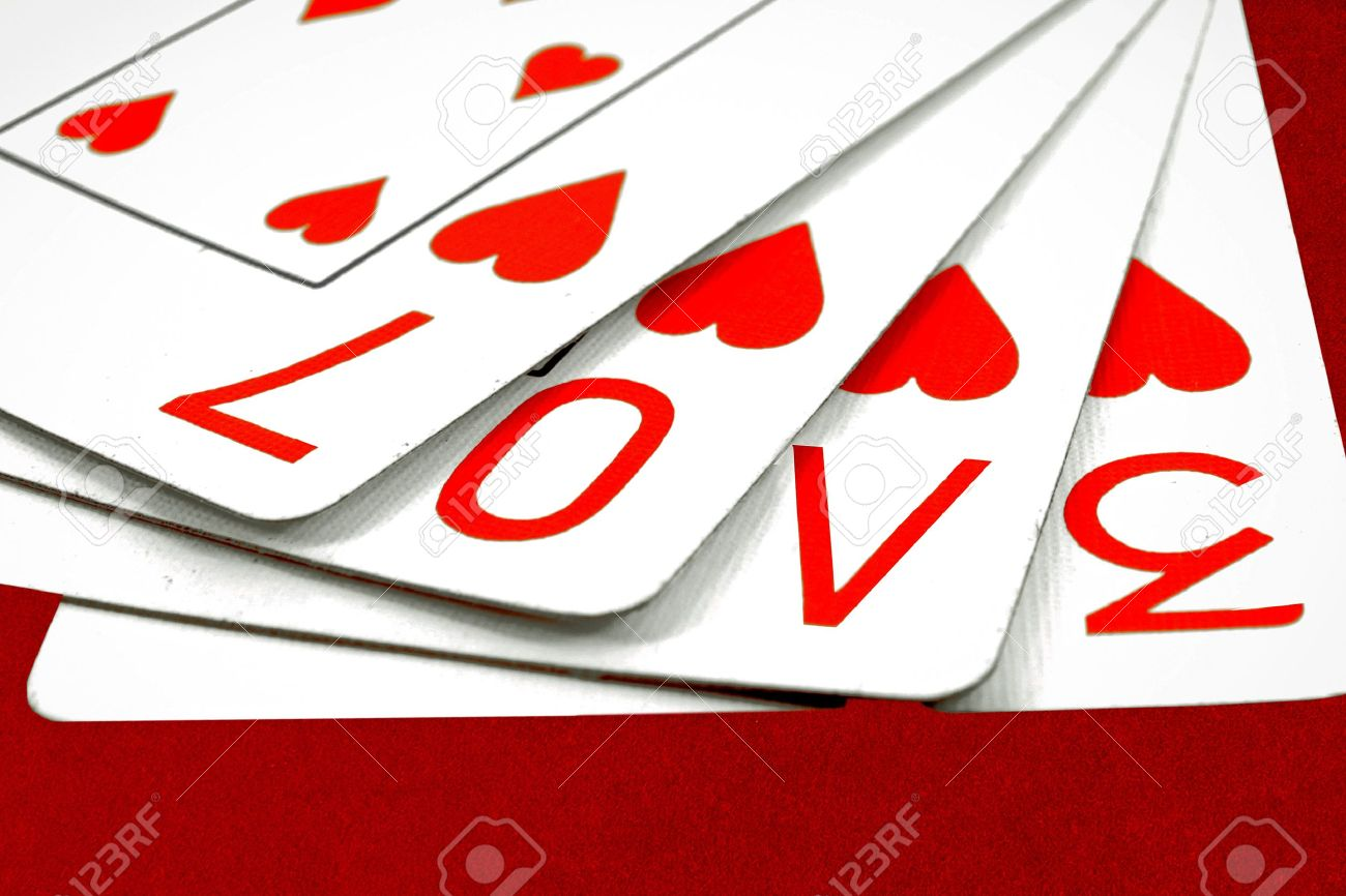 playing cards with the word love Stock Photo - 12710012