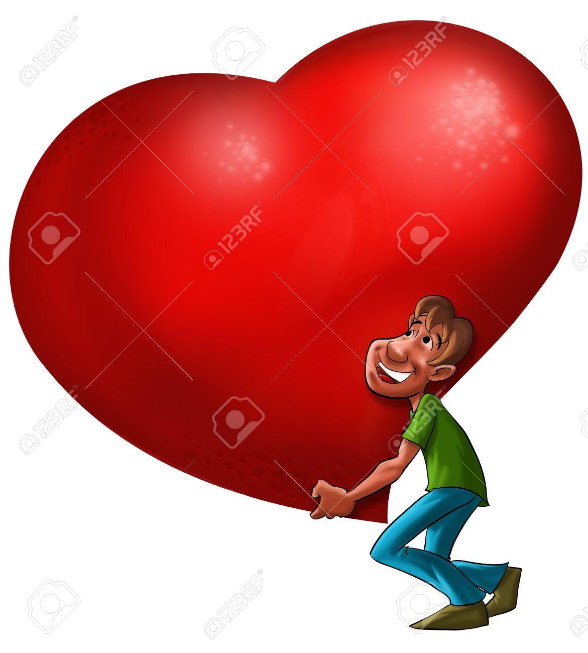 a man carrying a big heart stock photo picture and royalty free rh 123rf com big heart photo big heart picture red