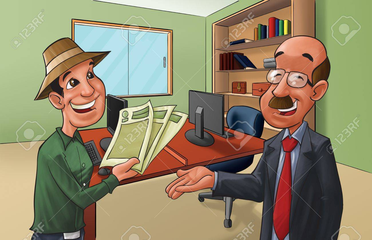 client is doing a deal, he has all papers organized Stock Photo - 10115567
