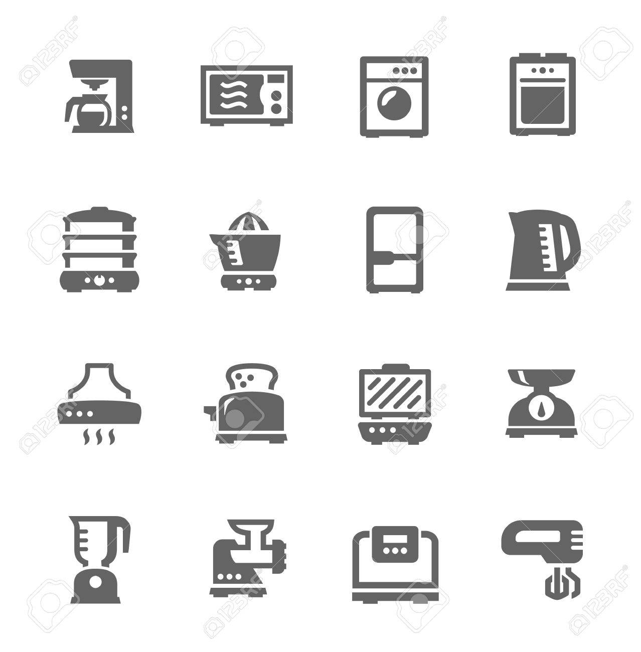 Set of Simple icons related to kitchen Stock Vector - 21156806