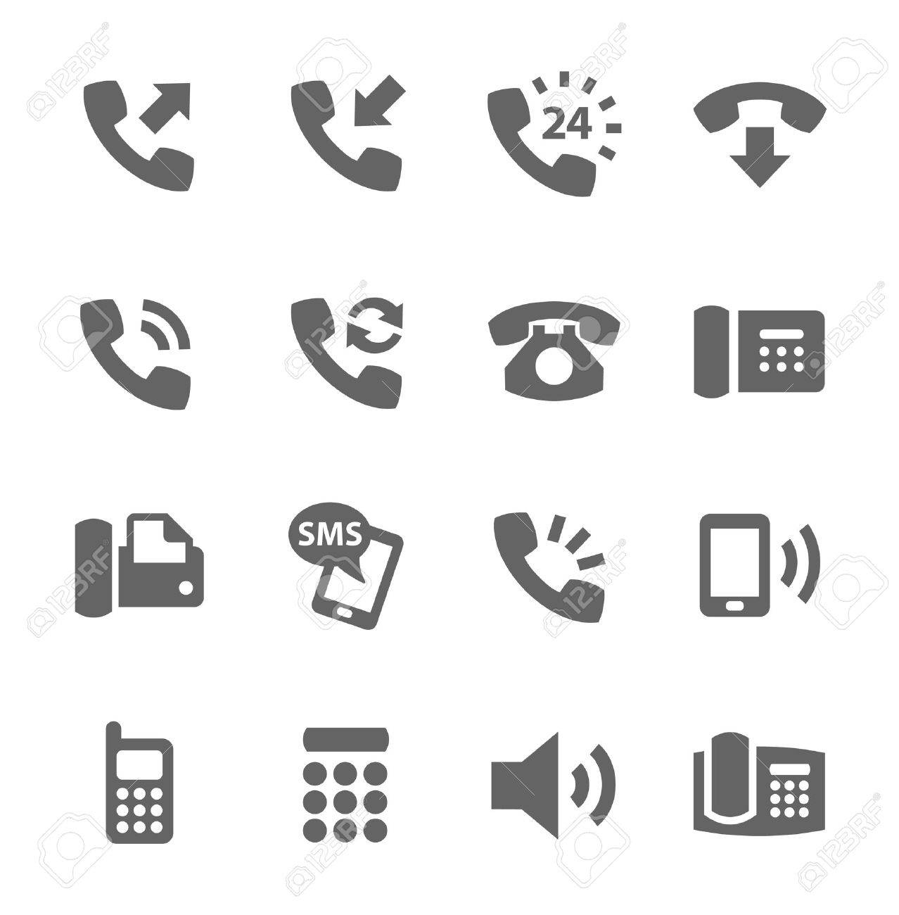 Simple set of phones related vector icons for your site or application - 26164557