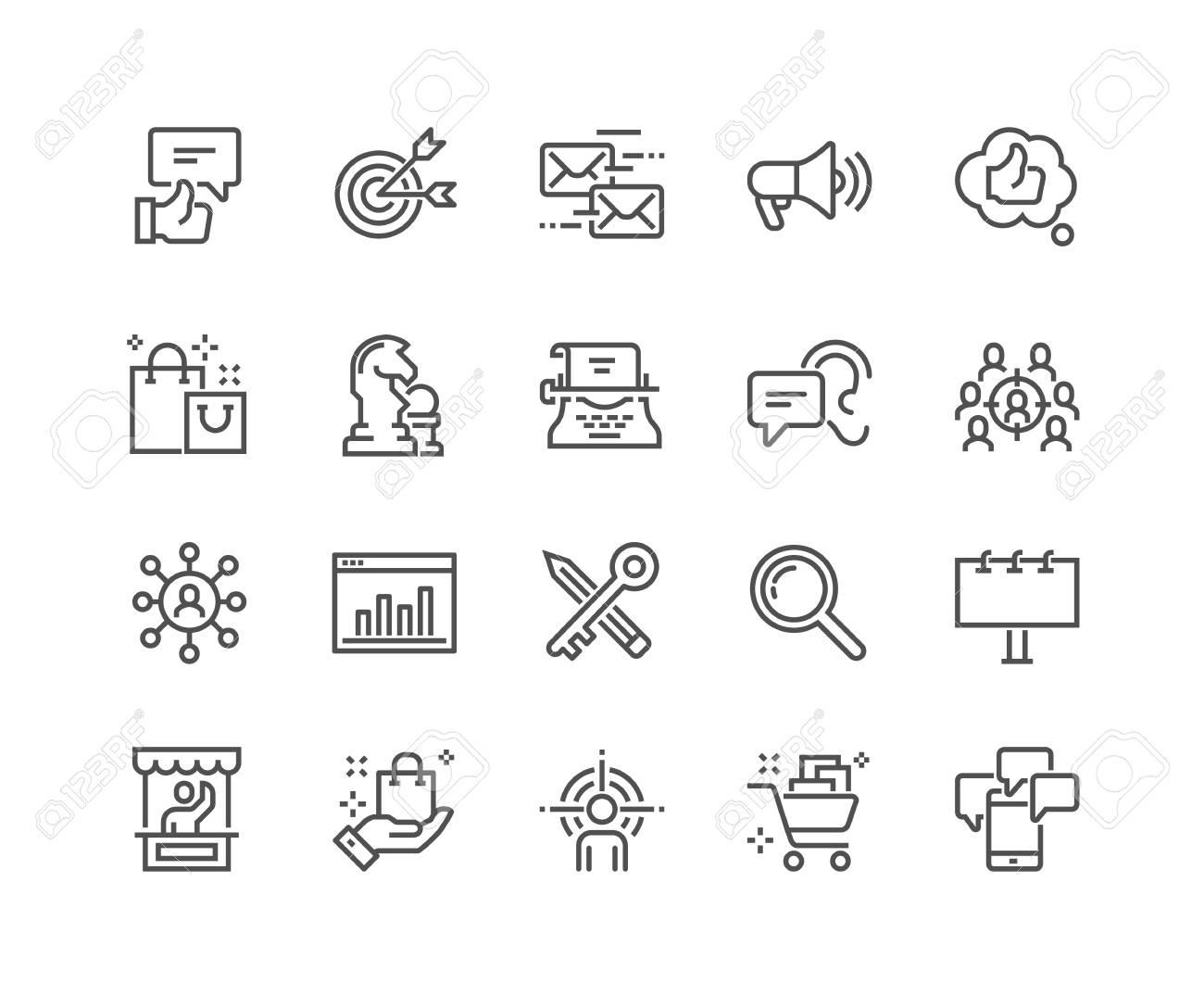 Line Marketing Icons - 105058671