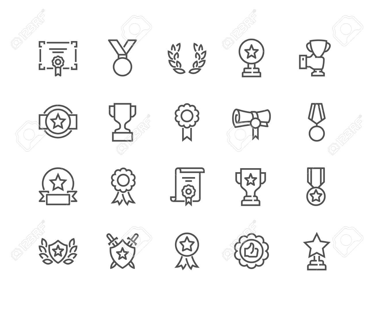 Line Awards Icons - 105056598