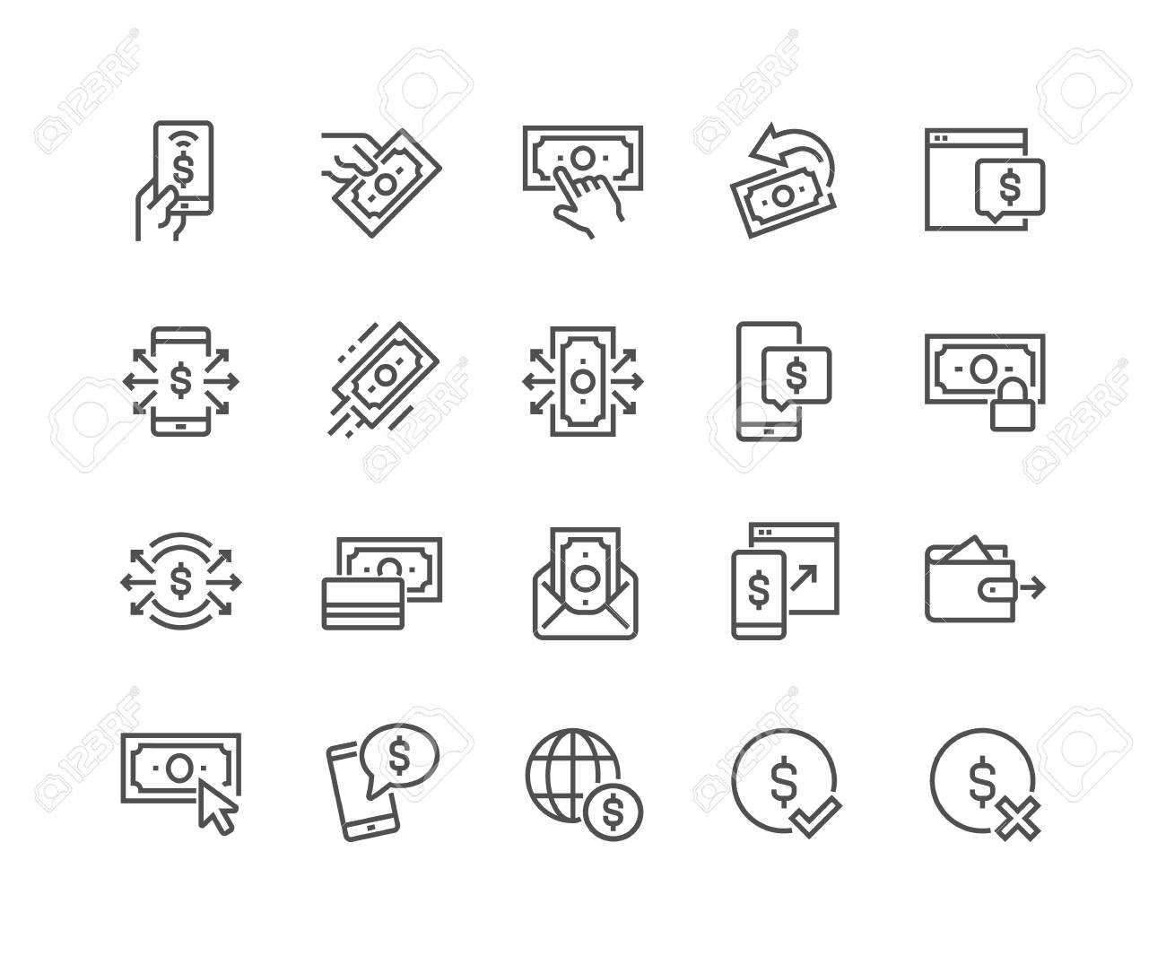 Line Payment Icons - 104230072