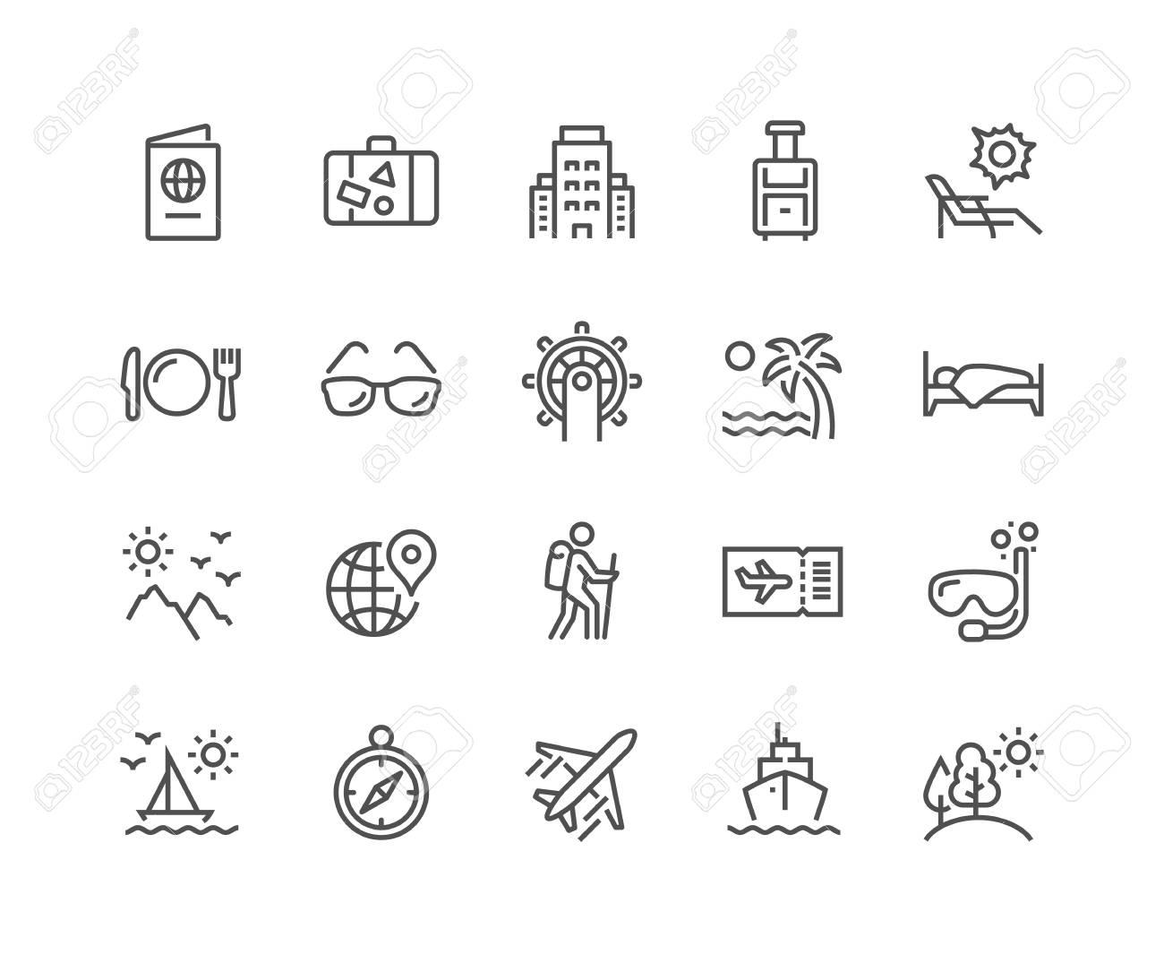 Line Travel Icons - 118849368