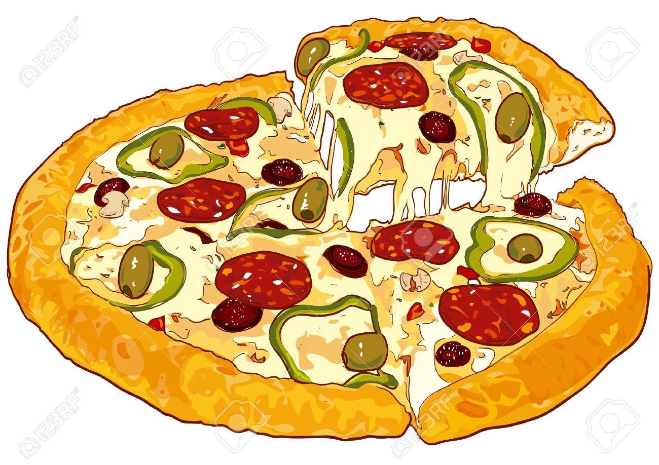 Fresh pizza Stock Vector - 3122649