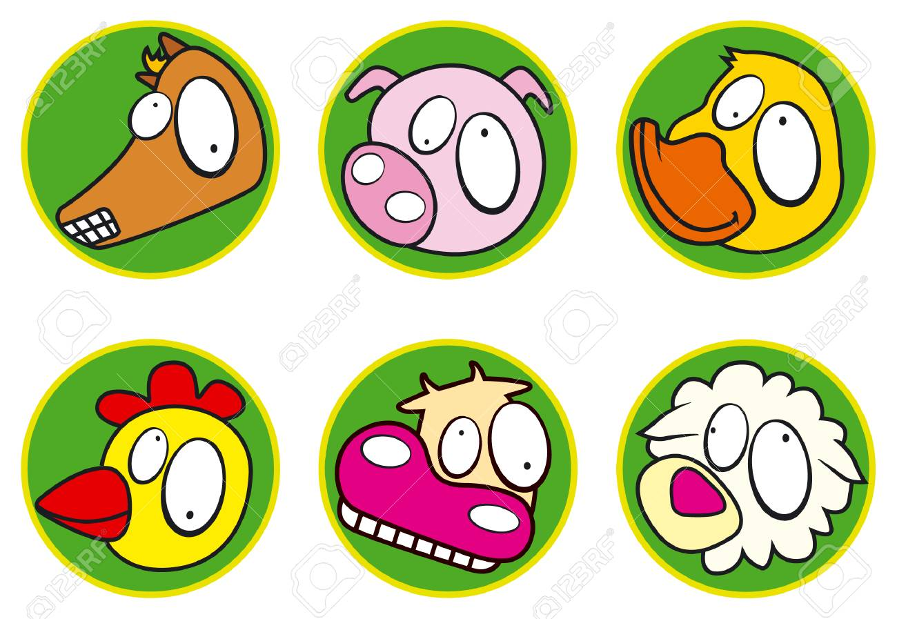 Farm icons color Stock Vector - 3181592
