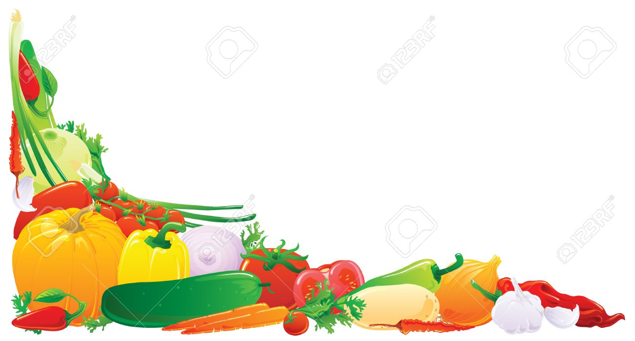 Vegetable Garden Border Clip Art Image Information 5129807 Colorful Corner Vector Illustration Stock