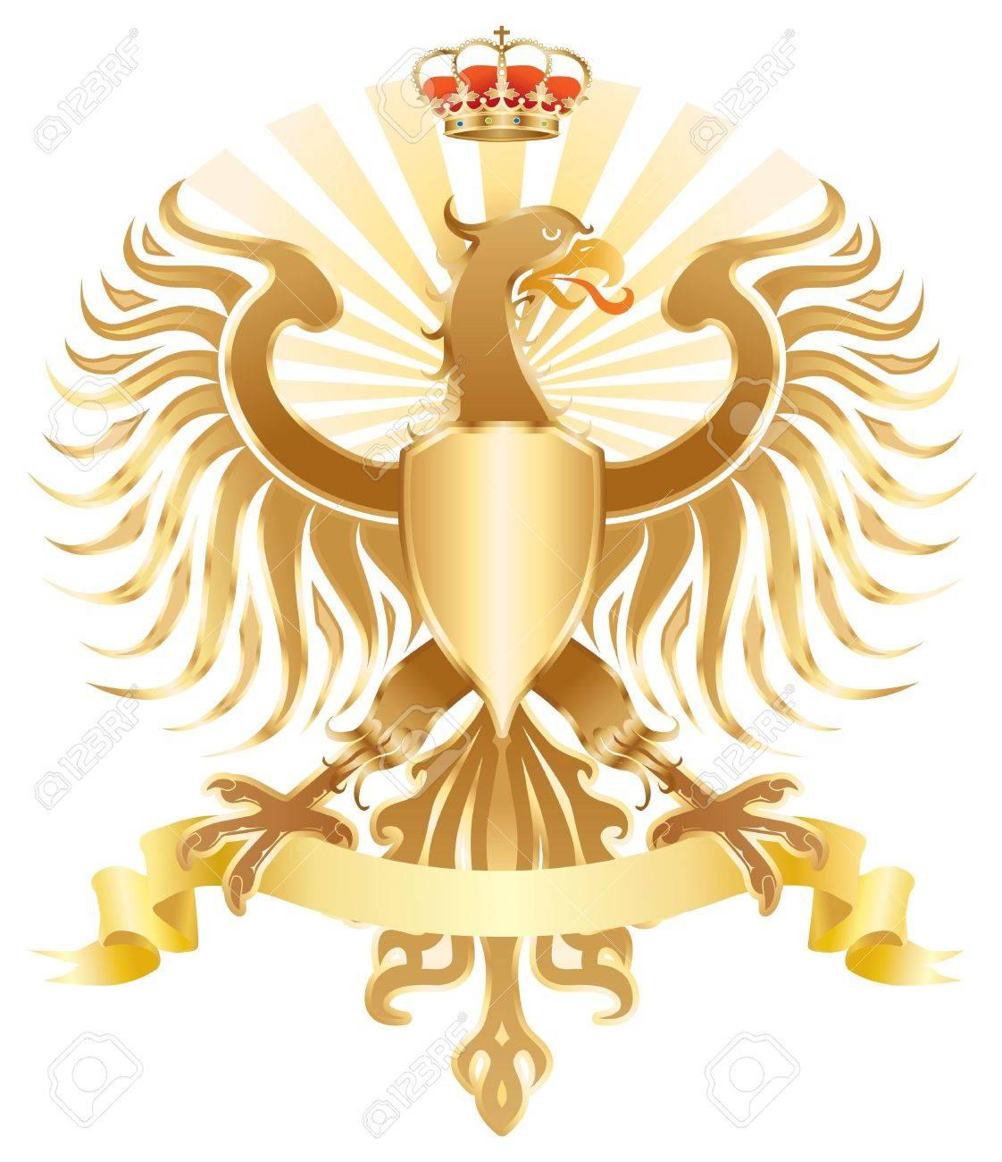 Original Golden Eagle Crest Color Version Stock Photo Picture And