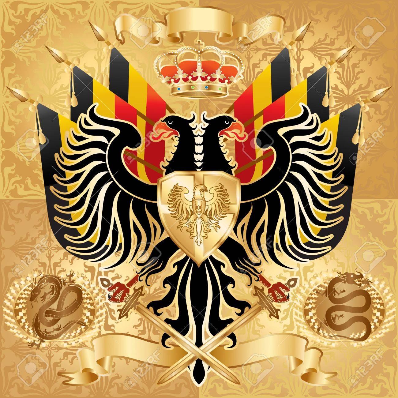 Royal Coat of Arms. illustration. Stock Illustration - 6998243