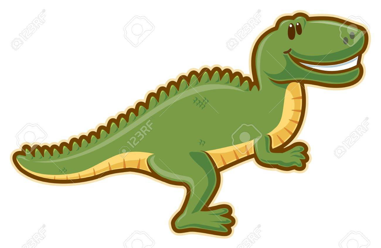 T-rex. without gradients. Stock Photo - 6998202