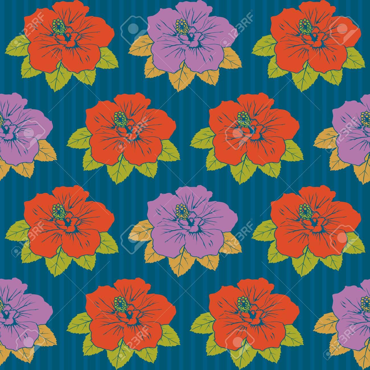 Seamless hibiscus pattern Stock Vector - 8222271