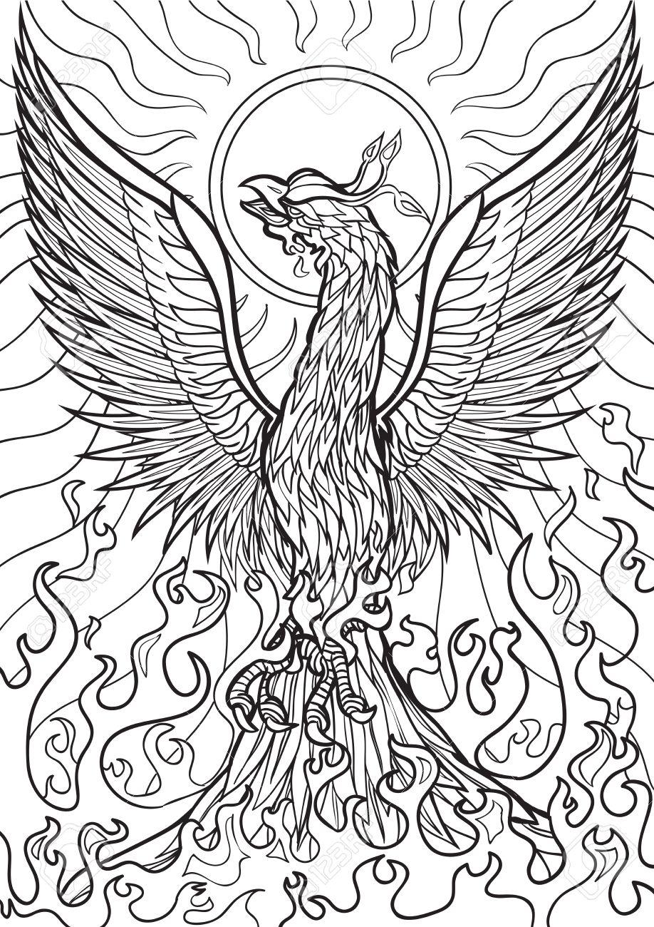 Bonito Realista Para Colorear Phoenix Ideas - Dibujos Para Colorear ...